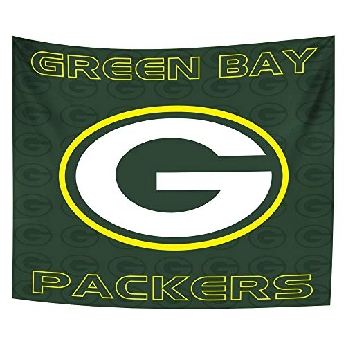 Hele Top Green Bay Packers Tapestry Wall Hanging Colored Printed Wall Tapestry for True Fans décor 51