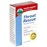 Peaceful Mountain Throat Rescue Throat Spray, 2-Ounce Packages (Pack of 2)