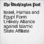 Israel, Hamas and Egypt Form Unlikely Alliance against Islamic State Affiliate | Sudarsan Raghavan,William Booth