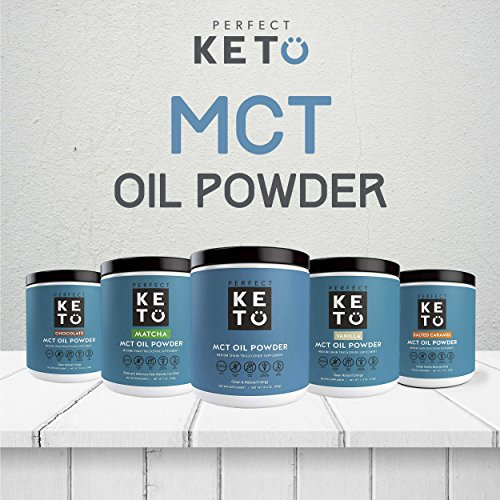 Perfect Keto MCT Oil Powder: Vanilla Ketosis Supplement (Medium Chain Triglycerides - Coconuts) for Ketone Energy - Paleo Natural Non Dairy Ketogenic Keto Coffee Creamer by Perfect Keto (Image #3)