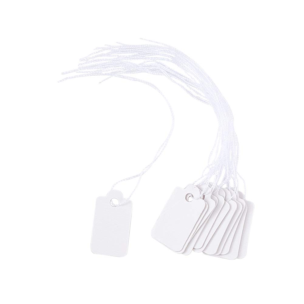 500pcs Marking Strung Tags Writable Tags Display Label Pricing Tags Blank