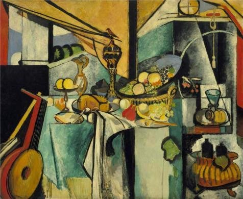 Oil Painting 'Still Life After Jan Davidsz. De Heem's La Desserte 1915 By Henri Matisse' Printing On Perfect Effect Canvas , 30x37 Inch / 76x93 Cm ,the Best Bar Gallery Art And Home Decor And Gifts Is This Amazing Art Decorative Prints On Canvas