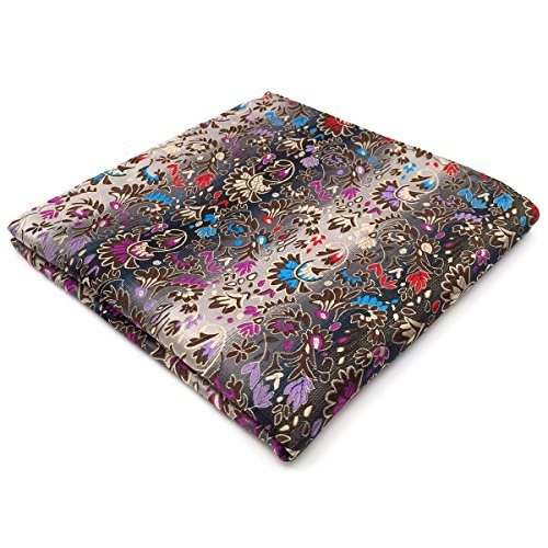 Shlax & Wing Extra Long Size Necktie Multicolor Floral Men's Tie Silk Classic