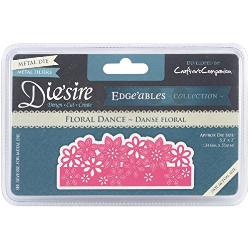 Crafter's Companion DEDGE-FLO Floral Dance Die'sire Edge'ables Cutting & Embossing Die - Edge Die