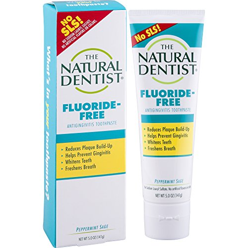 The Natural Dentist Fluoride-Free, SLS FREE Toothpaste, Peppermint Sage, 5 Ounce