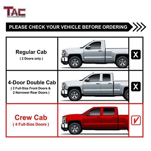 TAC Side Steps Fit 2001-2018 Chevy Silverado / GMC Sierra