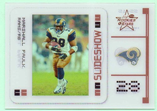 Marshall Faulk 2004 Leaf Rookies & Stars Slideshow Bronze #SS-15 - 0738/1250- St. Louis Rams, Indianapolis Colts