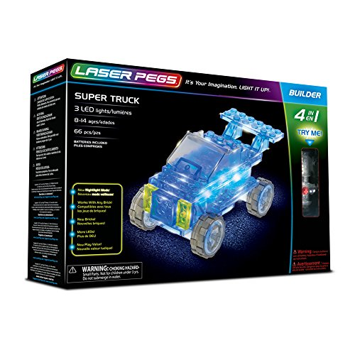 Laser Pegs Super Truck 4-in-1 Building Set Building Kit