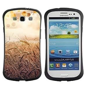 "Hypernova Slim Fit Dual Barniz Protector Caso Case Funda Para SAMSUNG Galaxy S3 III / i9300 / i747 [Naturaleza Hermosa Forrest Verde 55""]"