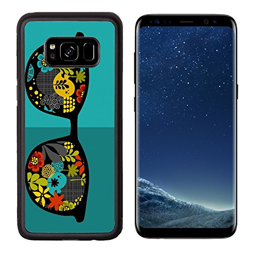 MSD Premium Samsung Galaxy S8 Aluminum Backplate Bumper Snap Case IMAGE ID: 31108120 Retro sunglasses with reflection for hipster Vector illustration of accessory glasses isolated Best print for - Jung Sunglasses