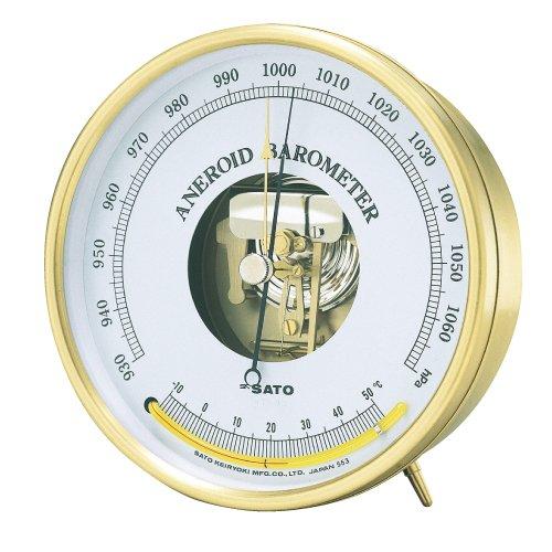 アネロイド気圧計(温度計付) 7610-20(23-2254-00)   B01KDPQ53M