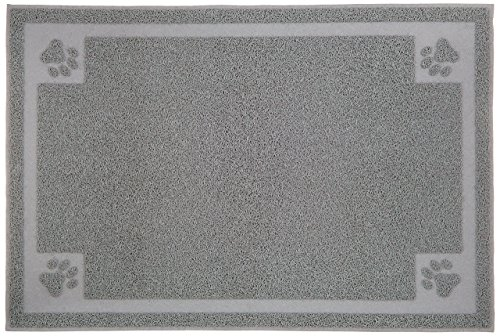 Monster Pets 35.5 by 23.75-Inch Rectangle Shape Cat Litter Mat, X-Large, Grey