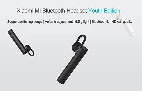 Amazon Com Original Xiaomi Bluetooth Earphone Mi Headphone Wireless Cell Phone Headsets Build In Mic Handfree Earbuds Youth Vesion Black
