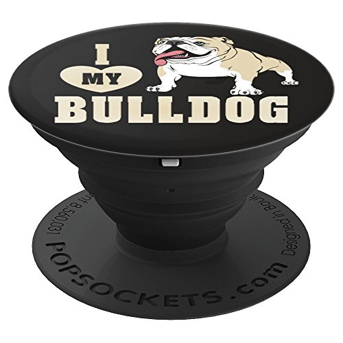 - I Heart Love My Bulldog Dog Breed Pop Socket - PopSockets Grip and Stand for Phones and Tablets