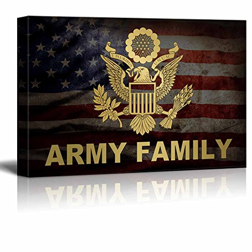 Wall26   Military Family Canvas Wall Art   Army Family   Gallery Wrap  Modern Home Decor | Ready To Hang   12x18 Inches