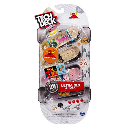 - Tech Deck Ultra DLX 4 Pack 96mm Fingerboards - Toy Machine 20th Anniversary Special Edition