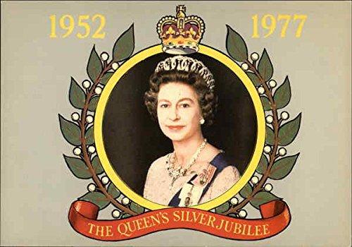 H. M. Queen Elizabeth II - Silver Jubillee 1952-1977 Royalty Original Vintage Postcard