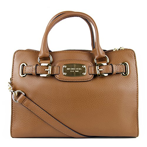 (Michael Kors Hamilton Medium East West Tote, Color Luggage, Model 35F5GHMT2L, Color Code 230)