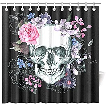 Amazon.com: Creative Skull Tree Black Eagle Shower Curtain 60\