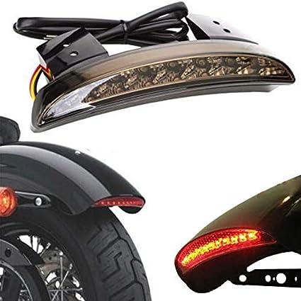 NATGIC 1 ST/ÜCKE Motorrad Bremslicht Motorrad R/ücklicht Hinterer Kotfl/ügel LED Bremslicht Umr/üstung Zubeh/ör f/ür Harley Sportster XL 883N 1200N XL1200V XL1200X Rauch