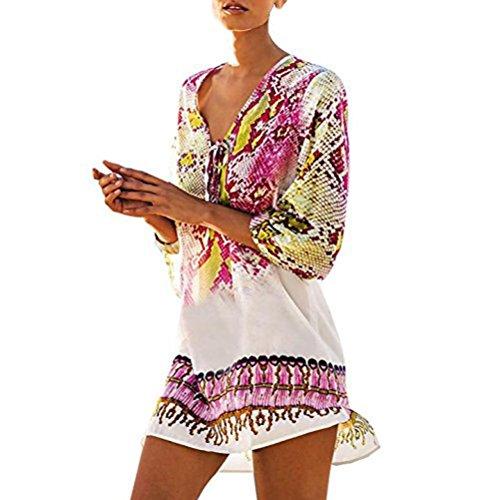 d8a31e1aad HOMEBABY Women Bohemia Beach Cover Up - Girls Beach Dress Lace Long Suit  Bikini Swimwear Beach Swimsuit Smock Holiday Cover Ups Summer Cardigan -  Buy Online ...