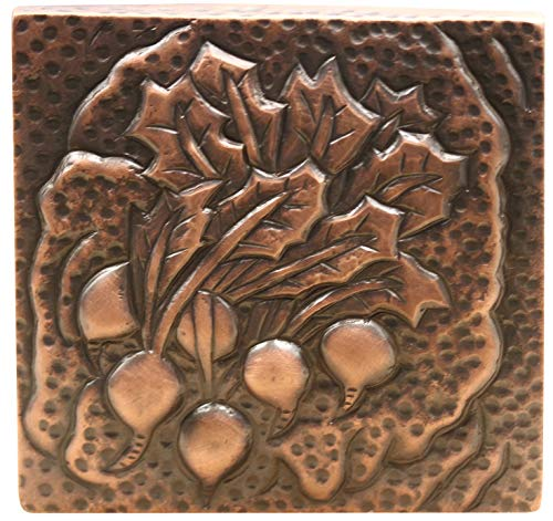 Copper Wall Tile for Farrmhouse Kitchen, Fountain or Swimming Pool 4 x 4 inches (Farmhouse ()