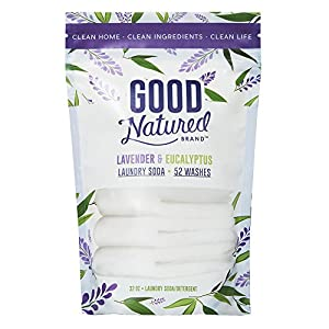 Good Natured Brand THE BEST All-Natural Eco-friendly Lavender and Eucalyptus Laundry Soda/Detergent 52 load bag 32 oz.