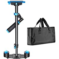 Neewer Carbon Fiber 24/60cm Handheld Stabilizer with Quick Release Plate 1/4 and 3/8 Screw for DSLR and Video Cameras up to 6.6lbs/3kg
