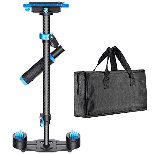 Neewer Carbon Fiber 24''/60cm Handheld Stabilizer with Quick Release Plate 1/4'' and 3/8'' Screw for DSLR and Video Cameras up to 6.6lbs/3kg by Neewer