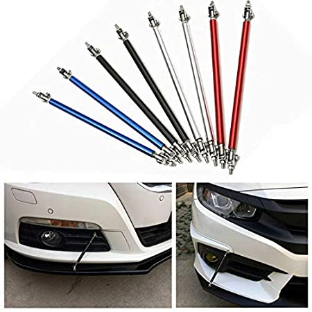 RED Splitter Rod,MASO RED ADJUSTABLE 100mm FRONT BUMPER LIP Strut Rods BAR SUPPORT STAINLESS