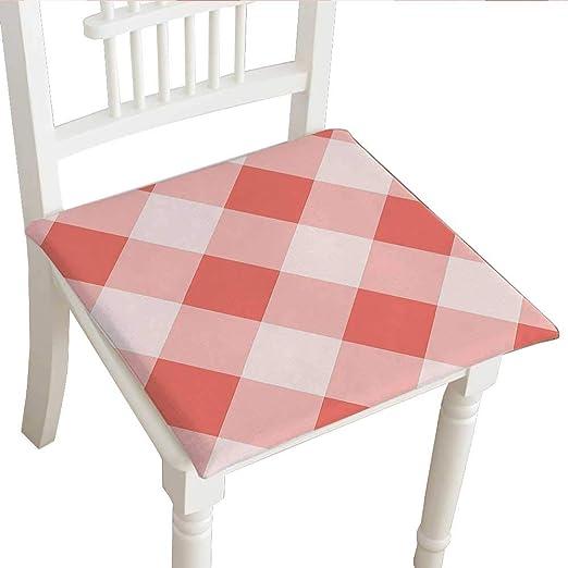 Cojín para silla de comedor (14 x 14 x 2 piezas), cojín cuadrado ...
