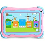 Yuntab Kids Tablet Q91 7 Inch Allwinner A33,1.3 Ghz Quad Core Google Android 5.1,Tablet PC,1G+8G,Dual Camera,WiFi,G-Sensor,Support SD/MMC/TF Card,Parental Control Software (Pink)