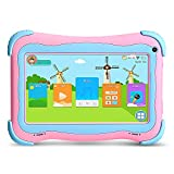 Yuntab Q91 7 inch Android 5.1 Kids Edition Tablet PC with Premium Parent Control Kids Software Pre-Installed Allwinner A33 Quad-core, 1+8GB, Dual Camera, WiFi, tablet for kids (Pink)