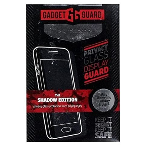 Gadget Guard Privacy Glass Screen Protector for Samsung Galaxy Note 4 - The Shadow Edition - Retail (Glass Privacy Screen For Note 4)