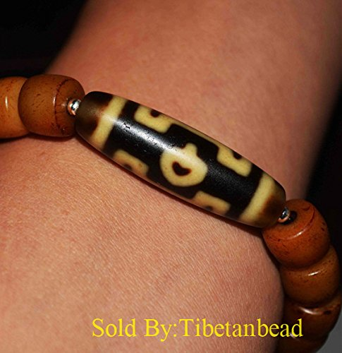 - Genuine Tibetan 3 Eyes Dzi Bead Bracelet Ancient Pure Three Eyed Agate Stone Old Amulet Antique Charm Eye Ivory color yellow Milky Gzi Nepal Zee Tibet Buddhism Necklace Pendant Authentic Carnelian White Black Ivory Color Real Protective Kapala Bodhi seed Buddha Heart Xizang Tianzhu Talisman