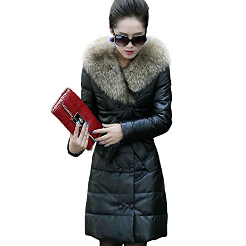 giacche in pelle invernale Slim Warm PU coats