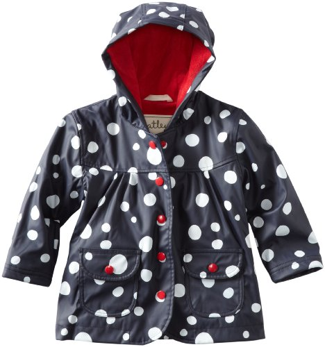 Hatley Little Girls'  Snow Balls Rain Coat