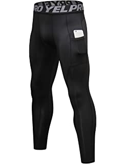 c81aaa34850 Lavento Men's Compression Pants Baselayer Cool Dry Pocket Running Ankle  Leggings Active Tights