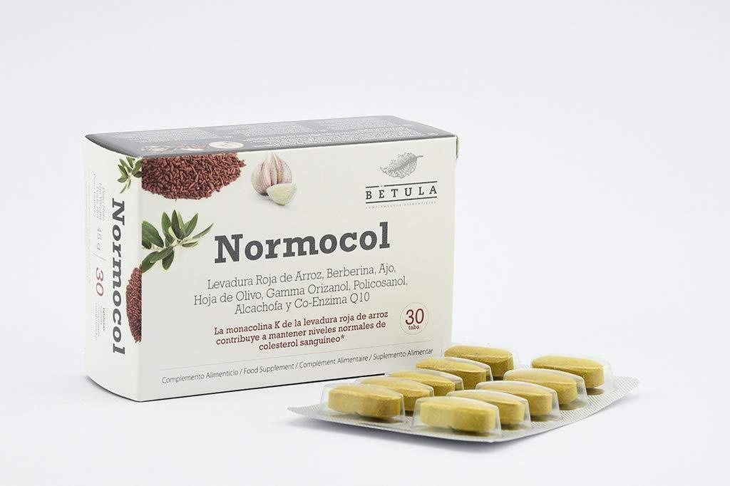 Betula - Normocol - Levadura Roja de Arroz, Berberina, Ajo, Olivo y ...