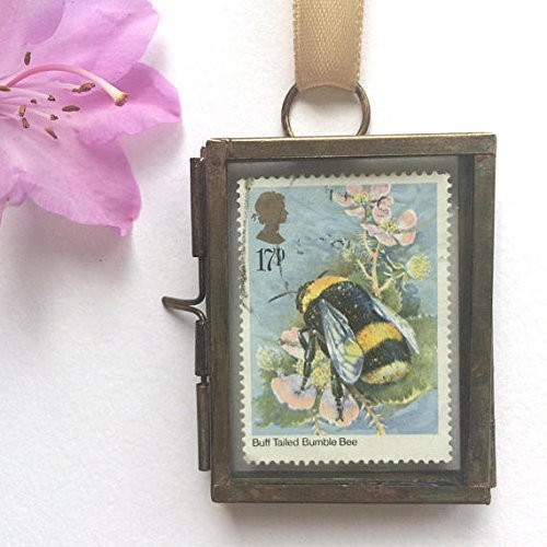 Bumble Bee Framed Postage Stamp Gift
