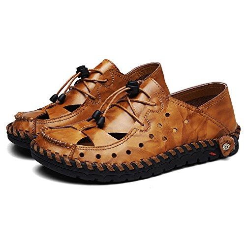 Noir De Bout En Sport Jaune Sandales Air Sandales Sandales Hommes Chaussures Trekking De Cuir À Hgdr Plage Plein Fermé Chaussures De qnxwaFdH8X