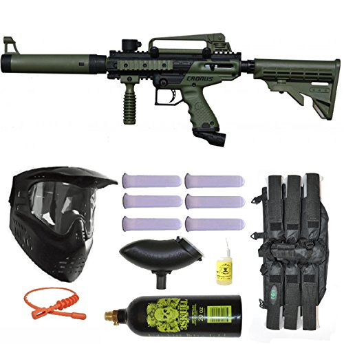 Tippmann Cronus Tactical Paintball Gun 3Skull Mega Set - Olive Tippmann Paintball Equipment