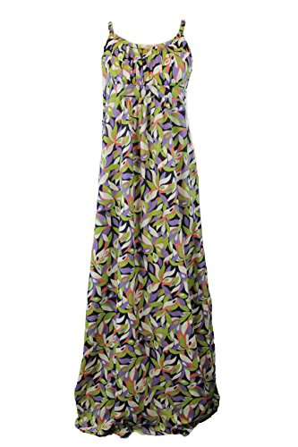 BODEN Women's Printed Maxi Dress, Green Multicolor, US 6R from BODEN