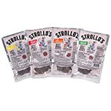 Strollo's Beef Jerky Sampler – Variety 4 Pack (1 of each flavor) Low Sodium, Low Carb, Low Sugar – Made with all Natural USA Beef, USDA Certified Review