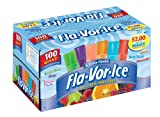 Fla-Vor-Ice Freezer Pops, Giant Fat Free Ice Pops, Fruity Flavors (100 - 1.5 oz pops)