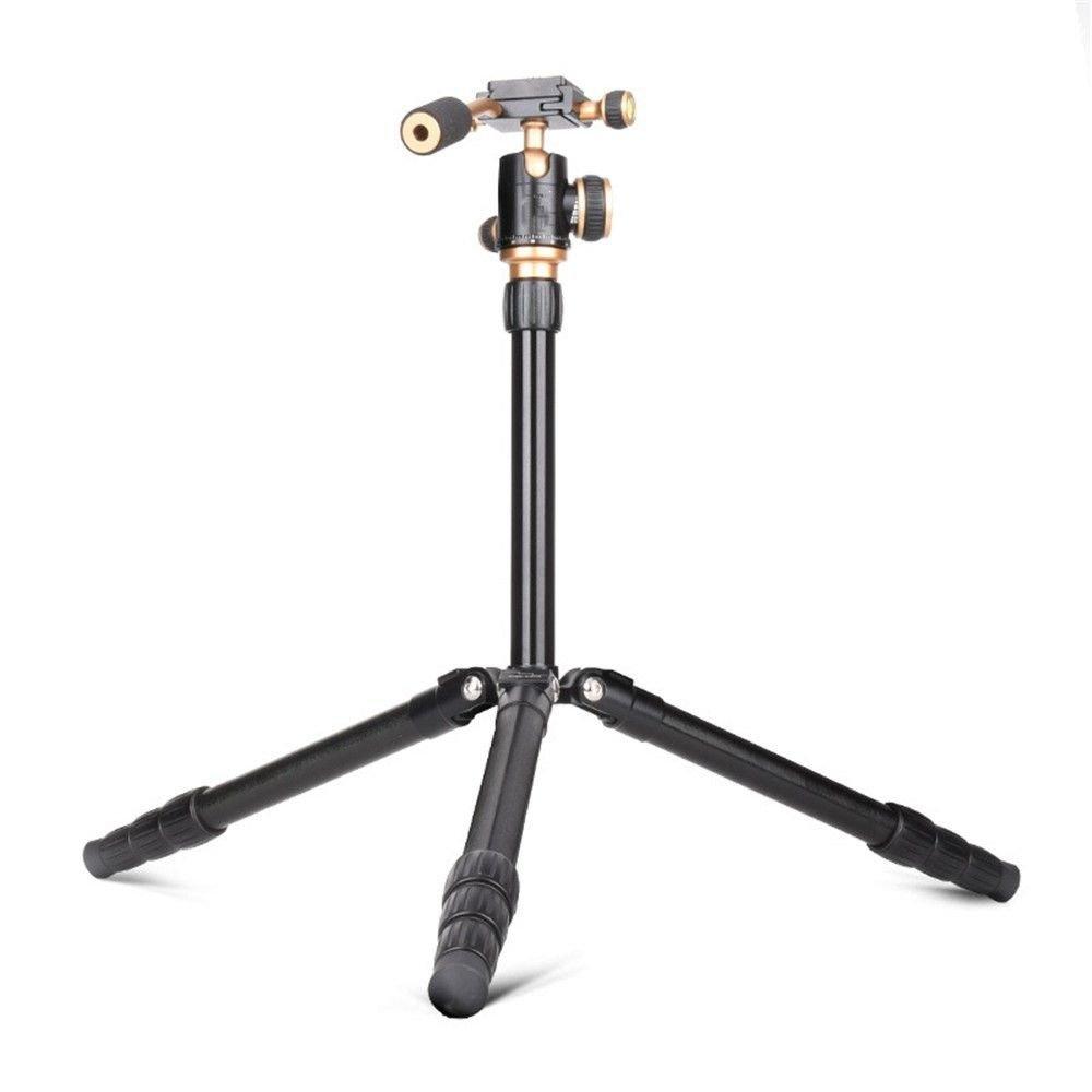 ポータブルアルミニウム合金デジタルカメラ三脚ボールヘッドDSLRカメラ、三脚、調節可能なパノラマ写真ライブ電話三脚   B07FJV5R14