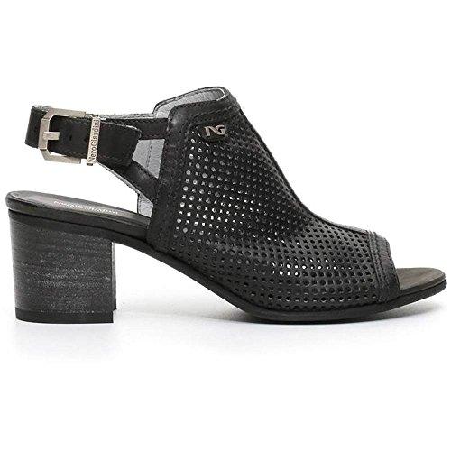 Sandalo Donna Alto in Pelle Nero P717771D 100 - Nero Giardini