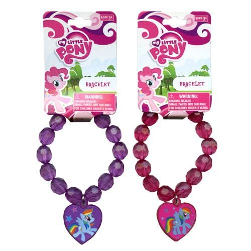 My Little Pony Faceted Beaded Bracelet with Plastic Charm 2 Asstd.