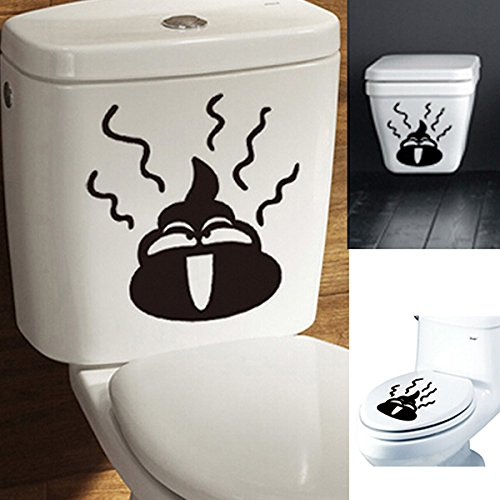 Bathroom Decor - Bathroom Decoration - Toilet Stickers Sticker Funny For Boys Wall Decor Halloween Put Me Down Plunger Wc Door Decoration Dog Cat Decal Seat Cover Bathroom - 1PCs