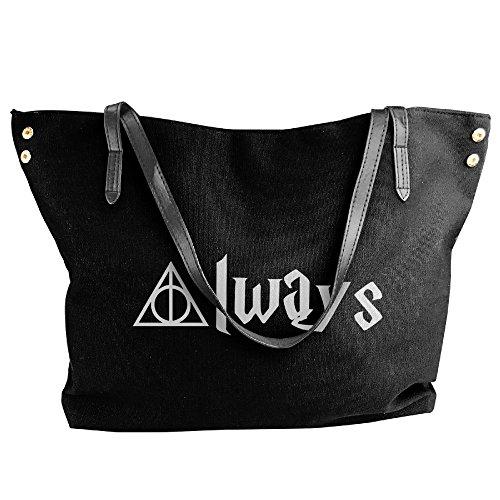 [Harry Potter Always Women Canvas Handle Single Shoulder Bag/Handbag] (Hermione Granger Costume Casual)